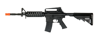 Cyma CM007 M4 R.I.S. Metal Gear AEG, Crane Stock, Carry Handle, Black