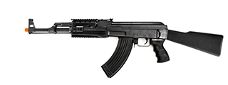 Cyma CM042A Tactical AK47 RIS AEG Metal Gear Full Metal Body, Fixed Stock, Foldable Vertical Foregrip