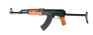 Cyma CM042S AK47S AEG Metal Gear Full Metal Body, Real Wood, Metal Under Folding Stock