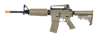 Golden Eagle JG F6604TAN Super Enhanced M4A1 Carbine AEG Metal Gear, Polymer Body in Tan