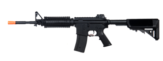 Golden Eagle JG F6672 Super Enhanced M4 SOPMOD RIS AEG Metal Gear, Polymer Body, Rail Covers in Black