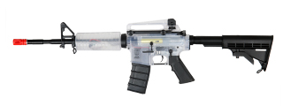 ICS ICS-41W M4A1B, Clear Plastic Body