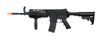 A&K IU-M4SS-NB M4 S-System AEG Metal Gear, Battery & Charger Not Included, Black