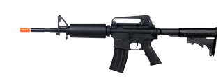 JG JG4001MG M4A1 Carbine AEG Metal Gear, Polymer Body, Metal Mag Release, Metal Outer Barrel, in Black