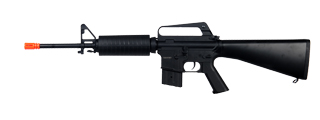 JG JG4006MG M4 AEG Metal Gear, Polymer Body, Metal Mag Release, Metal Outer Barrel, Functional Bolt Catch, Fixed Stock