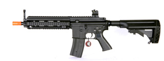 Golden Eagle JG6621 MK416 RIS CQB AEG Metal Gear, ABS Body, Retractable 416 Stock