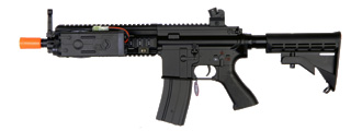 Golden Eagle JG6622 MK416 RIS CQB AEG Metal Gear, ABS Body, PEQ Box Included, Retractable LE Stock
