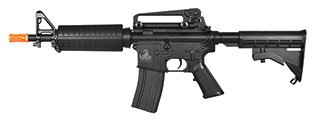 Lancer Tactical LT-01BL M4 Commando CQB Field Ready Version AEG Metal Gear, ABS Body in Black