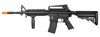 Lancer Tactical LT-04B M4A1 RIS AEG Metal Gear, ABS Body, Vertical Foregrip