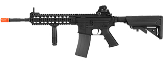 LT-100M M4 FULL METAL AEG w/URX RAIL SYSTEM (COLOR: BLACK) 14.5 INCH BARREL