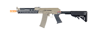 Lancer Tactical LT-11T Beta Project Tactical AK RIS AEG Metal Gear, Full Metal Body in Dark Earth