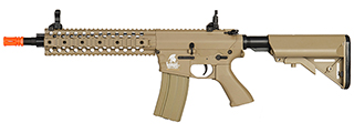 "LT-12T 10"" FREE FLOAT RAIL M4 AEG METAL GEAR (COLOR: TAN)"