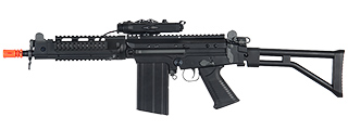 JG AIRSOFT FAL AEG W/ PEQ BOX RIS FOLDING STOCK - BLK