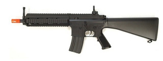 DOUBLE EAGLE MK416 AEG TACTICAL RIS W/ FIXED STOCK - BLACK