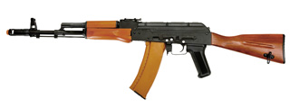 RK-06-NB AK-74 FULL METAL AIRSOFT AEG - NO BATTERY/CHARGER (BLACK & WOOD)