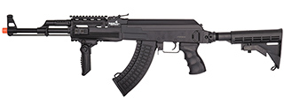 LT-728C TACTICAL AK AEG RIFLE w/ RETRACTABLE STOCK (BK)