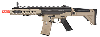 ICS CXP APE TWO-TONE BLOWBACK AIRSOFT AEG RIFLE - BLACK/TAN