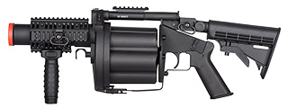ICS 6 ROUND 40MM AIRSOFT REVOLVING GRENADE LAUNCHER - BLACK