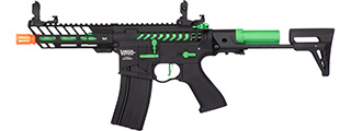 Lancer Tactical ProLine NEEDLETAIL PDW Skeleton AEG [HIGH FPS] (BLACK/GREEN)