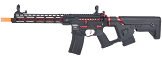 Lancer Tactical Enforcer BLACKBIRD Skeleton AEG w/ Alpha Stock [HIGH FPS] (BLACK/RED)